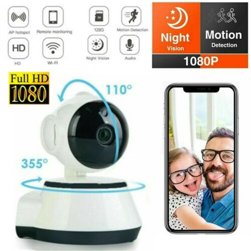 1080P WiFi Wireless Indoor Home Security Camera Night Vision HD Baby Pet Monitor