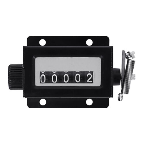 TOPTIE Mechanical Tally Counter , 5 Digit Resettable Manual Pull Stroke Counter