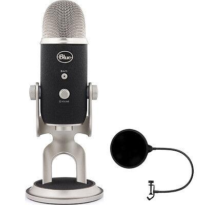 BLUE MICROPHONES Yeti Pro USB Condenser Microphone, Multipattern w/ Wind Screen