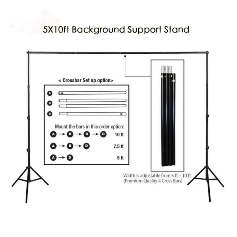 Kshioe Adjustable Background Support Stand Photo Backdrop Kit Photography
