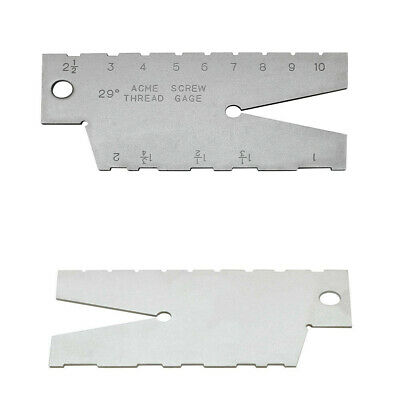 ACME Screw 29 Degree Thread Gauge Gage Grinding TOOL Laser Engraving