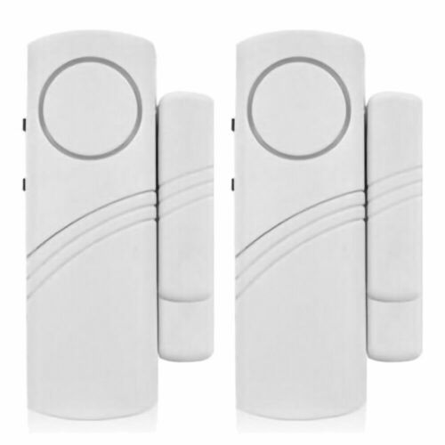 2x Wireless Door Open Alarm Bell Sensor Loud Ring Security E