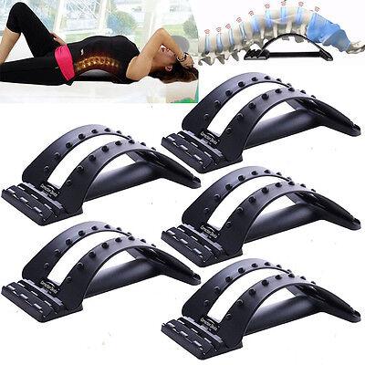 Back Magic Stretcher Lower Lumbar Massage Support Spine Posture Corrector Black