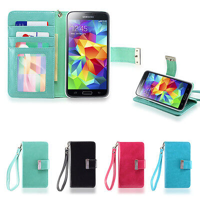 id wallet flip case pu leather cover