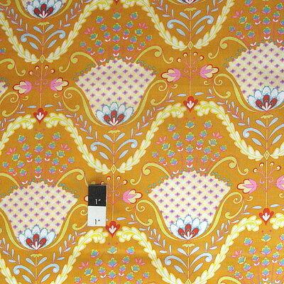 Dena Designs PWDF174 Little Azalea Hyacinth Orange Cotton Fabric By Yard Little Kid Azalea