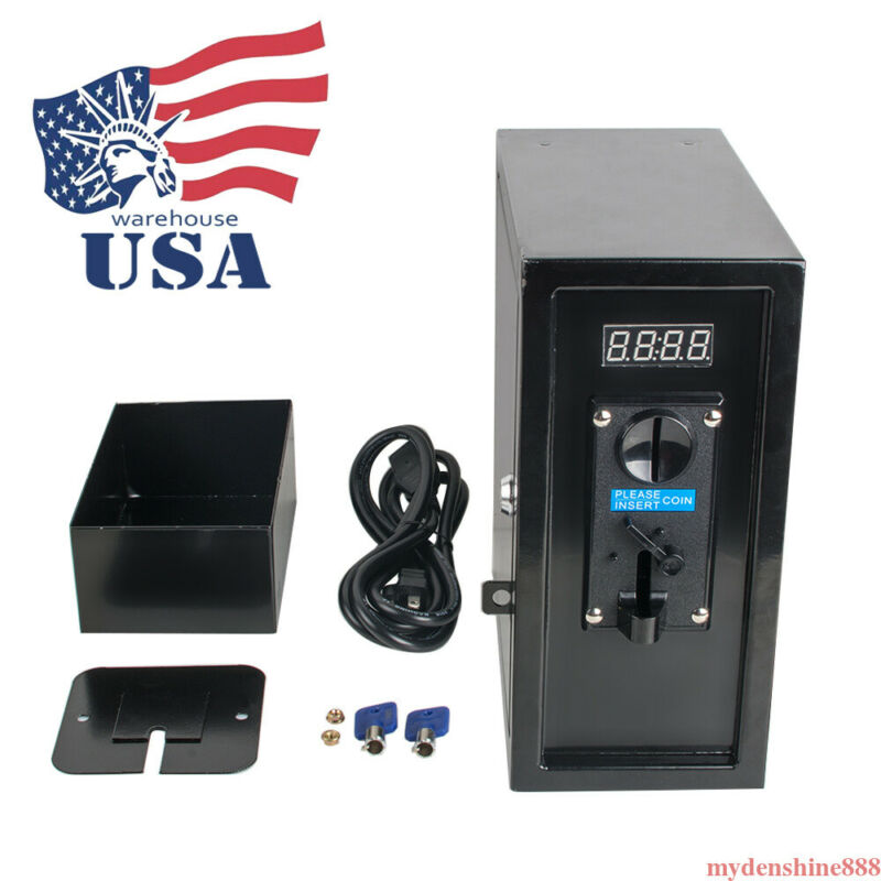 Coin Operated Timer Control Box Power Supply Electronic Device Coin Acceptor New
