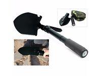 Black Survival Folding Shovel Spade Portable Garden Camping Hiking Outdoor Tool
