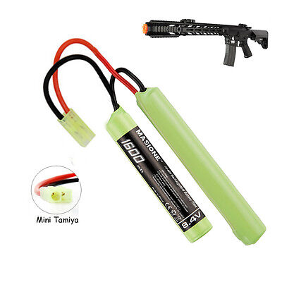 8.4V 1600 MINI BATTERY FITS AIRSOFT TM M733 MP5 SD6 M4 SD5