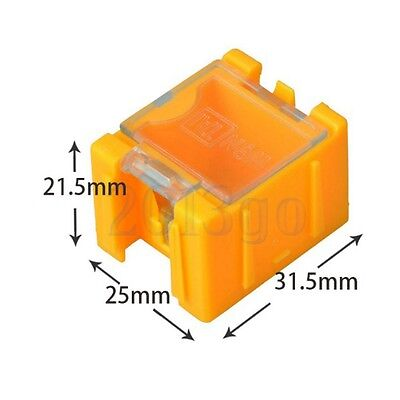 Hot 10pcs 1 Smd Smt Electronic Capacitor Yellow Box Components Storage Cases Cg
