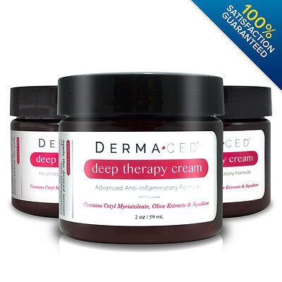Dermaced Deep Therapy Eczema Psoriasis Cream   3 Bottle Value Pack