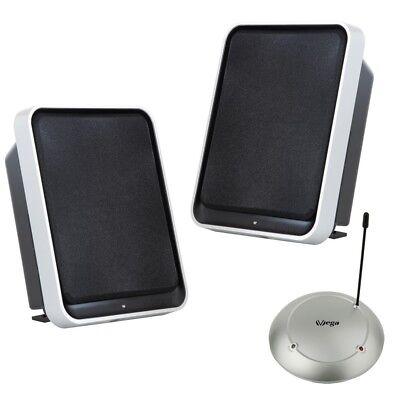 Funk Lautsprecher Stereo 2x50Watt BASSBOOST 100m UHF Plug&Play wireless