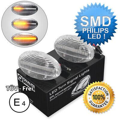 2x DYNAMISCHE LED SEITENBLINKER BLINKER WEIß CLEAR MERCEDES W168 W639 SMART W450