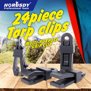 24 Pieces Heavy Duty Tarp Clips Cl&s Great for C&ing Canopies Tents Canvas & Canvas Canopy | eBay