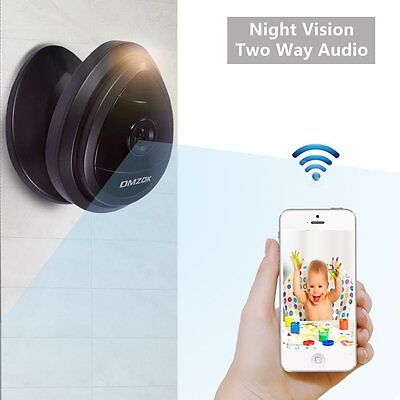 DMZOK 720P Wireless Wifi Camera with Night Vision Two-Way Audio, Pan Tilt Zoom,