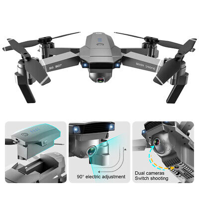 SG907 GPS 4K HD Dual Camera WIFI FPV RC Quadcopter Foldable Drone Angry Toy X4W9