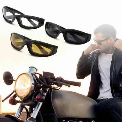 3 Paar Kit Männer Frauen Motorradbrille gelbe Gläser Bikerbrille Sonnenbrillen