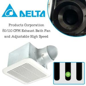 NEW Delta Products Corporation, 80/110 CFM Exhaust Bath Fan and Adjustable High Speed Condtion: New, 80/110 CFM, Fan...