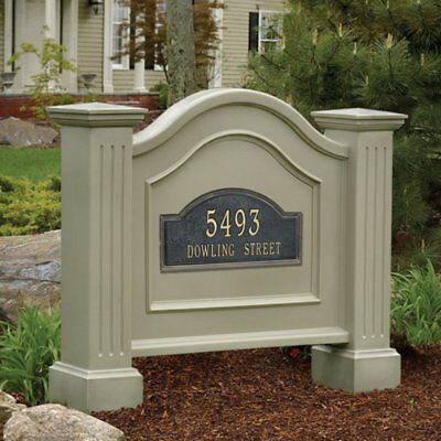 Address Plaque Sign House Lawn Stand Street Number Wood UV Resist Outdoor - Lawn Sign