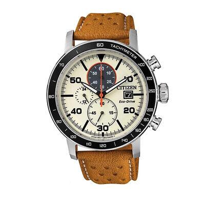 NEW Citizen Eco-Drive Men's Chronograph Tachymeter Watch - CA0641-16X