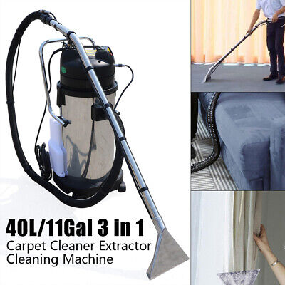 11gal40l 3 In1 Household Cleaning Machine Carpet Curtain Cleaner Dust Extractor