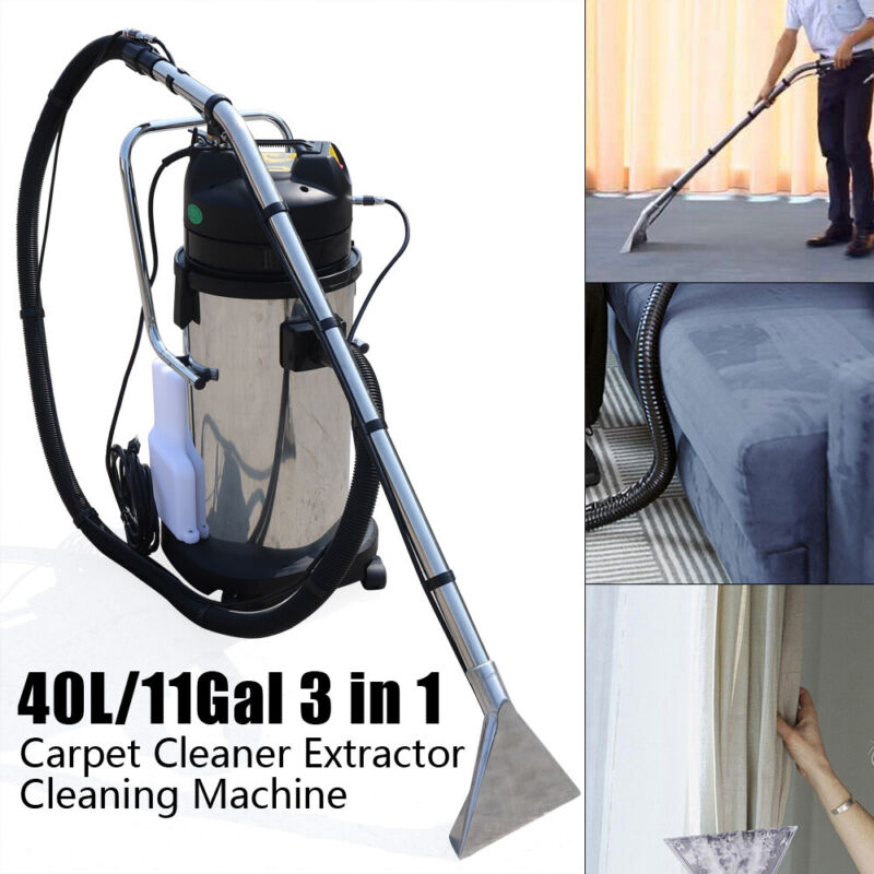 11Gal/40L 3 in1 Household Cleaning Machine Carpet Curtain Cleaner Dust Extractor