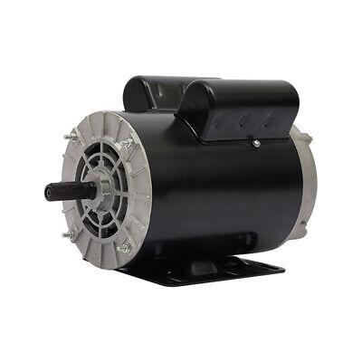 5 Hp Spl 3450rpm Electric Air Compressor Duty Motor 56 Frame 58 Shaft 230v New
