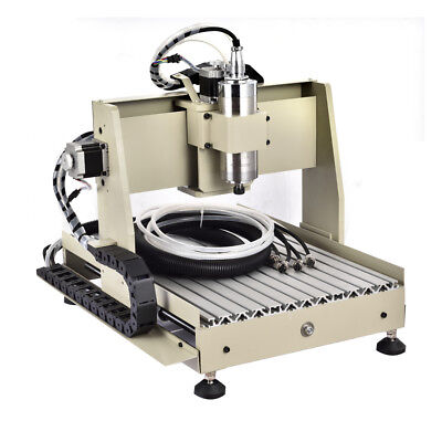 4axis 800w Cnc 3040 Router Engraver Machine Water-cooling Drill Cutterhandwheel