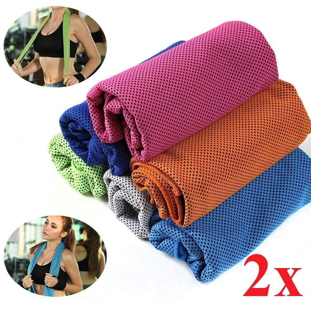 2 Pack of Cooling Towel Chilling Pad Evaporative Enduring Cool Max Rag Fitness Equipment & Gear