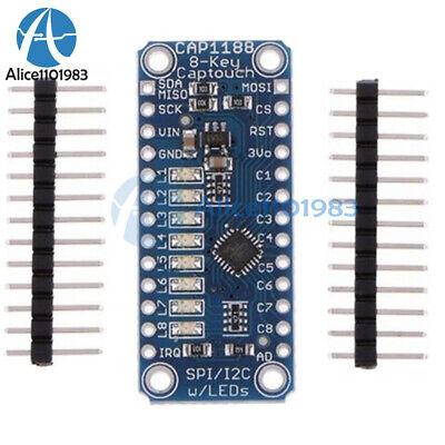 Cap1188 8 Key Capacitive Touch Sensor Module Spi I2c Captouch Led For Arduino