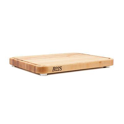 John Boos Tenmoku Cutting Board In Maple With Ss Feet   Boos Msrp  183 00
