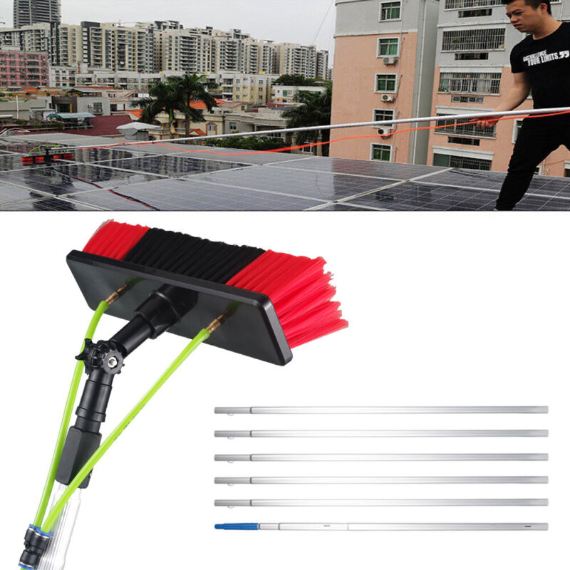 Hot Window Cleaning Poles Water Fed Brush Electrophoresis Process Height 26ft