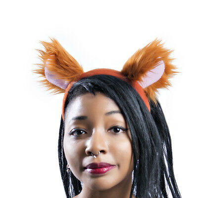 PAWSTAR Mouse Ears Headband - Furry Costume Rust Brown Bear lion - Lion Ears Headband
