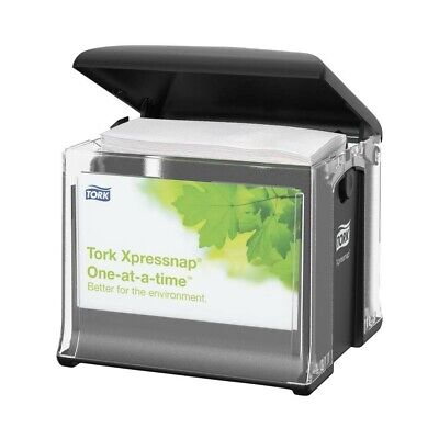 Tork Xpressnap Cafe Napkin Dispenser 32xrt Clearblack Set Of Four