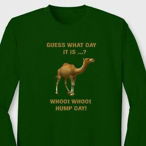 HUMP-DAY-CAMEL-T-shirt-Funny-Auto-Insurance-Guess-What-Day-It-Is-Long-Sleeve-Tee