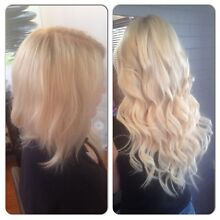 HAIR EXTENSIONS SPECIAL $250 F/H Thick Russian includes cut in Clear Island Waters Gold Coast City Preview