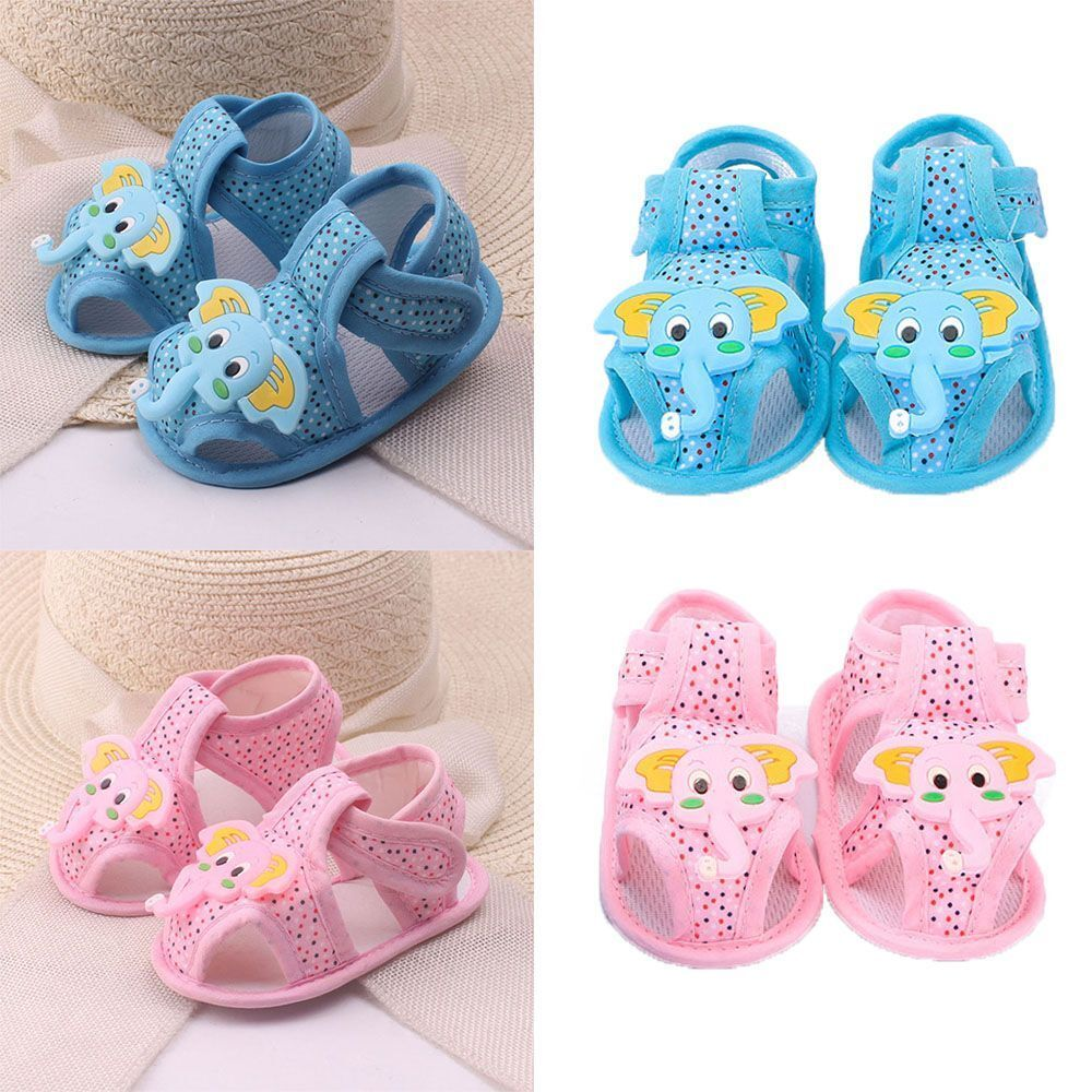 Summer Elephant Pattern Cartoon Boy Toddler Sandals For Baby Soft Sole Shoes