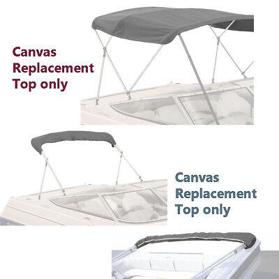 Boat Pontoon Bimini Top Fabric Canvas W/Boot / 3 Bow / 4 Bow (Bimini Boat Covers)