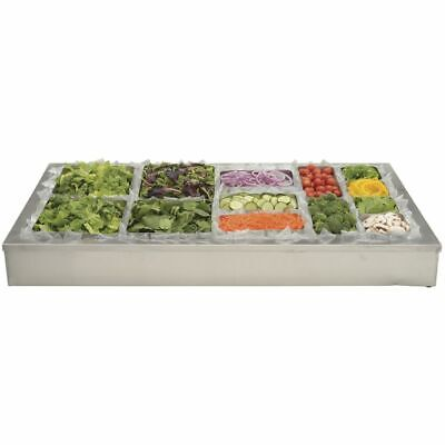 Hubert Ice Display For Cold Foods And Beverages Stainless Steel - 48l X 24w X