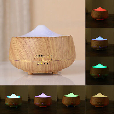 LED Aroma Diffuser Essential Oil Ultrasonic Air Humidifier Purifier Atomizer
