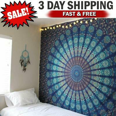 Hippy Home Decor (Wall Hanging Hippie Mandala Tapestry Bohemian Indian Ethnic Dorm Decor)