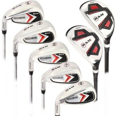 Ram Golf Accubar Mens Left Hand Graphite/Steel Iron Set 6-PW - HYBRID INCLUDED ()