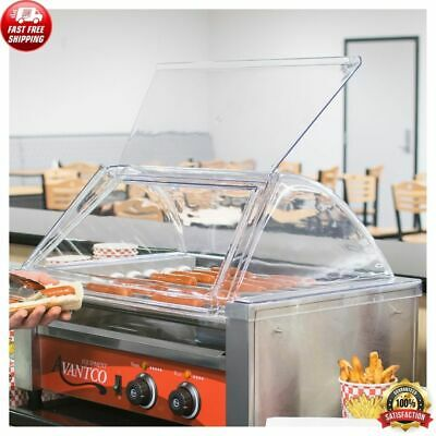 18 Hot Dog Roller Clear Acrylic Plastic Grill Sneeze Guardcover Only Equipment