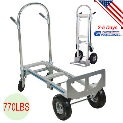 770lbs Cart Folding Dolly Collapsible Trolley Push Hand Truck Moving Warehouse