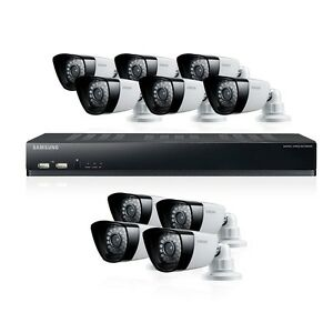 Samsung SDS-P5101N 16 Channel DVR 1TB 10 Night Vision Indoor Outdoor LED Cameras