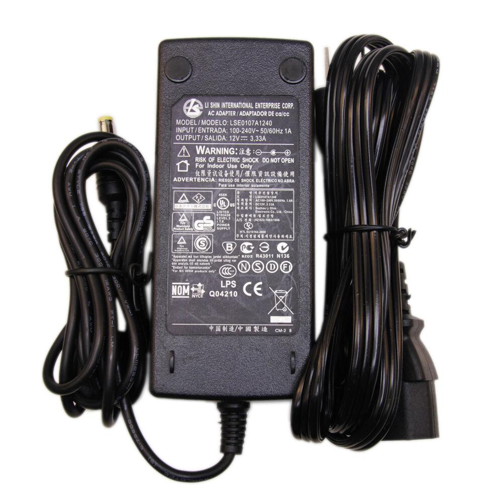 Li Shin LSE0107A1240 12V 3.33A 40W AC Adapter Power Supply C