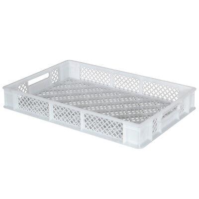10x Eurobehälter / Stapelkorb, LxBxH 600 x 400 x 90 mm,15 Liter, weiß