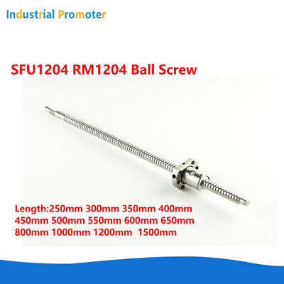 Ball Screw Sfu1204 Rm1204 12mm L250mm-1500mm W Flange Single Ball Nut Cnc Parts