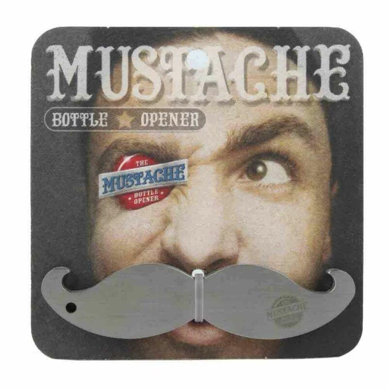 Mustache Bottle Opener, Keychain