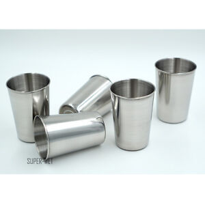 5pcs Stainless Steel Cup Mug Drinking Beer Coffee Tea Camping Outdoor Tumbler