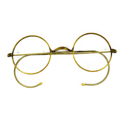 Really Old Antique Vintage 42mm Round eyeglass frames Wire Rim Rx able (Old Round Glasses)